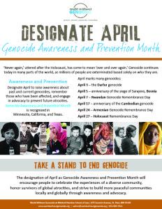 Designate April flier