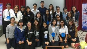Chiang Mai University students with Victoria Dutcher.