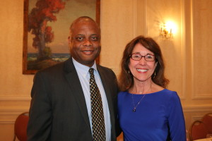 Minnesota Department of Human Rights Commissioner Kevin Lindsey (right) with Dr. Ellen Kennedy, Executive Director.