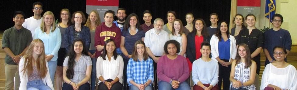 Students with Fred Amram, Holocaust survivor.