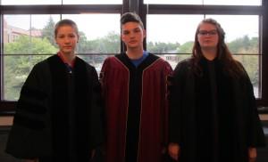 The mock trial judges.